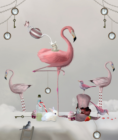 Wonderland-serie - Flamingo tea party banket