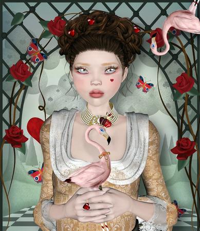 surreal: Wonderland series - Surreal queen of hearts