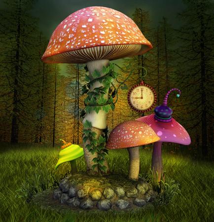 hongo: Fantasía elfos lugar