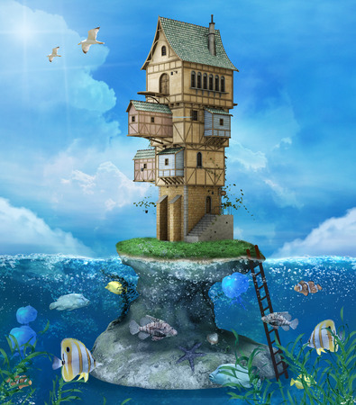summer holiday: Fantasy fisherman house