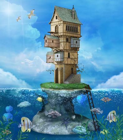 fantasy: Fantasy fisherman house