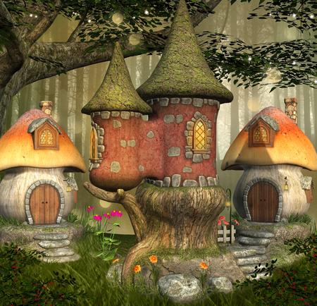 Fantasy elves town