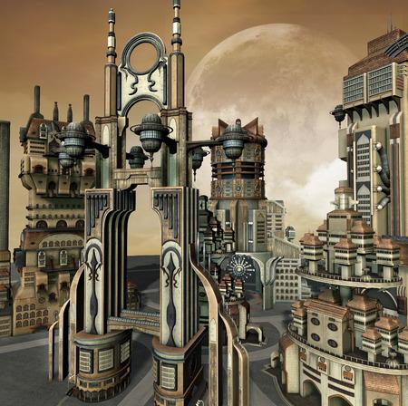 futuristic: Futuristic town