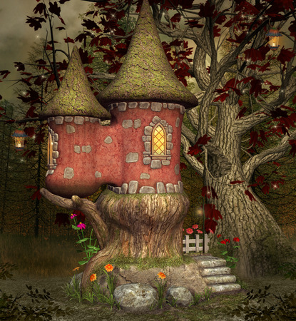 château de conte de fées Banque d'images