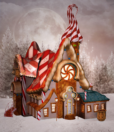 Gingerbread enchanted house