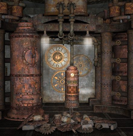 Steampunk boiler room