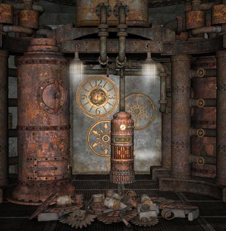Steampunk stookruimte