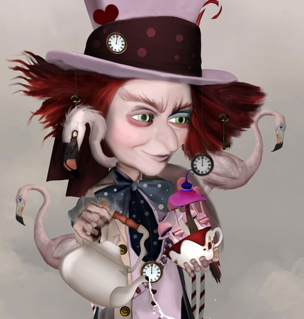 Mad hatter fantasy portrait Stock Photo
