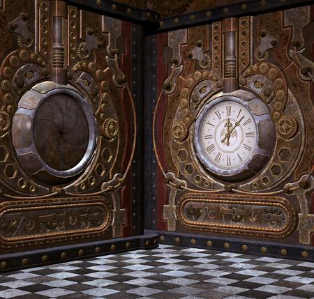 clockworks: Steampunk corner clock