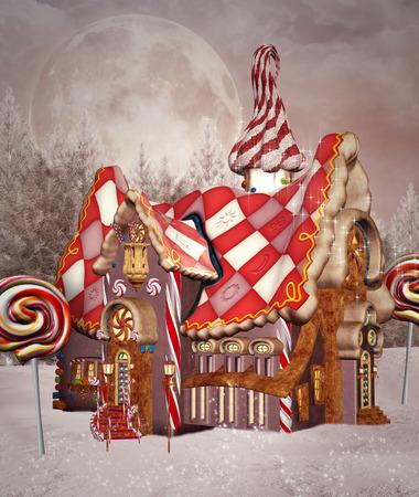 casita de dulces: Casa de pan de jengibre