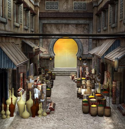 souk: Fantasy bazaar Stock Photo