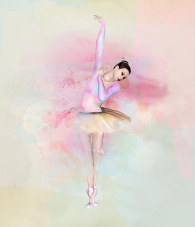 발레리나 - 수채화 초상화