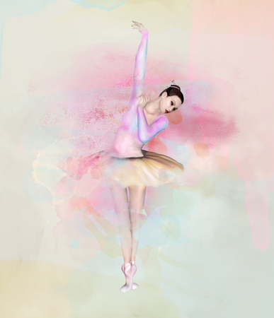 Ballerina - Watercolor portrait