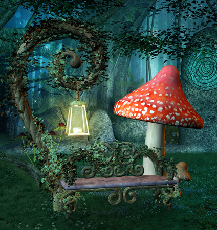 Enchanted resting place Stock Photo - 80321088
