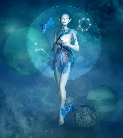 Zodiac series - Pisces as a fantasy creature