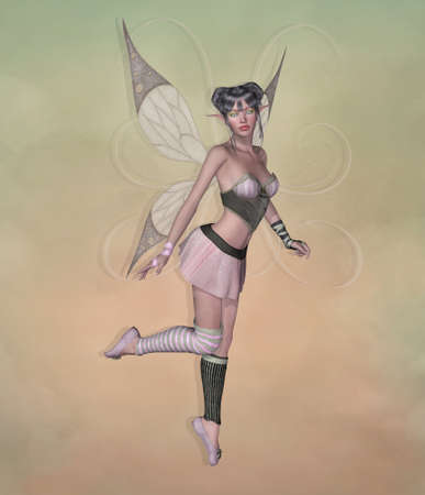 Dancing pink fairy