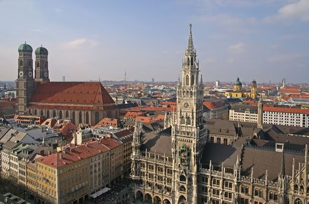 view of historical center of munich