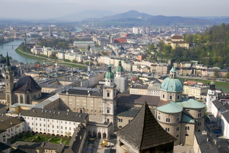 photo of aerial view of Salzburg. Austria. Stock Photo