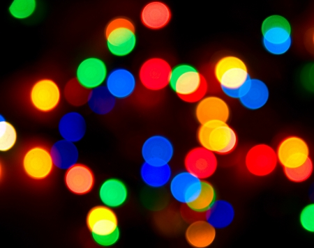 photo of colorful background with defocused neon lights