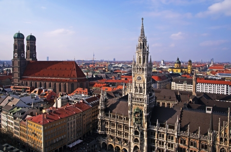 germany munich bird eye view of historical center