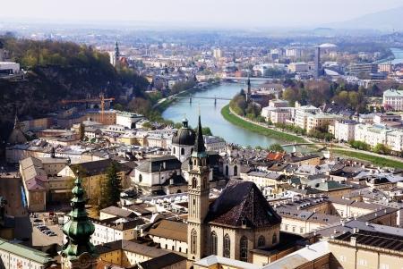 amadeus: Austria Salzburg Bird eye view of historical center