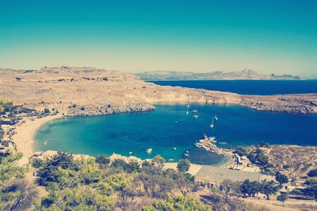 View at Lindou Bay from Lindos