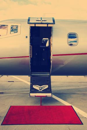 VIP Private Jet Stock Photo