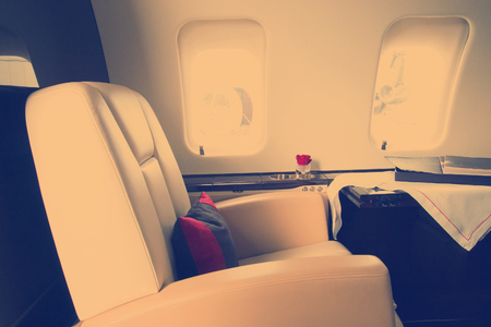 corporate private Jet Airplane Interior