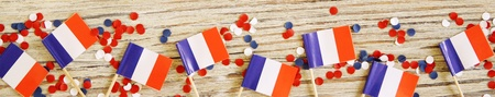 July 14, the national holiday of Happy Independence Day of France, Bastille Day Lanniversaire de la Prince de la Bastille , the concept of patriotism, faith and memory, place for text Standard-Bild