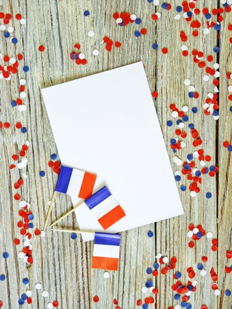 July 14, the national holiday of Happy Independence Day of France, Bastille Day Lanniversaire de la Prince de la Bastille , the concept of patriotism, faith and memory, place for text