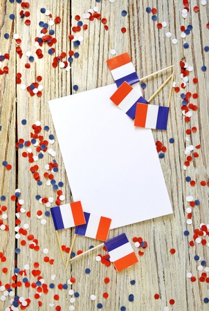 July 14, the national holiday of Happy Independence Day of France, Bastille Day Lanniversaire de la Prince de la Bastille , the concept of patriotism, faith and memory, place for text Banque d'images