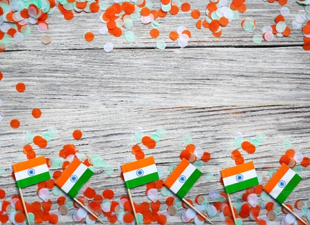 India independence day August 15, concept of faith , freedom, patriotism, day of remembrance and joy 版權商用圖片
