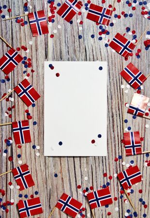 Norwegian 17'th of may. Norways Constitution Day is celebrated on May 17 when the nations constitution was signed at Eidsvoll on May 17, 1814 免版税图像