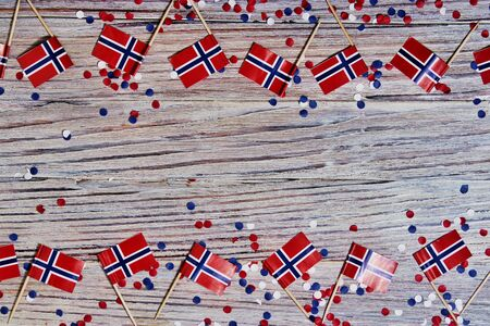 Norwegian 17'th of may. Norways Constitution Day is celebrated on May 17 when the nations constitution was signed at Eidsvoll on May 17, 1814 Stock Photo