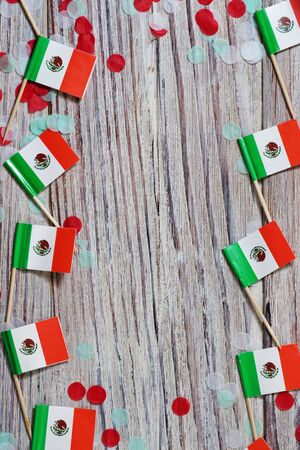 Mexican Flag with dramatic lighting, Independence day, cinco de mayo celebration Banco de Imagens - 128259140