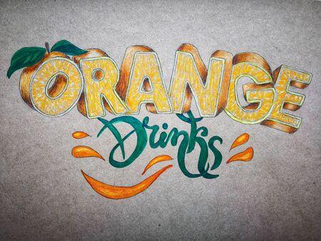 orange decorative text orange Drinks. For menu design, wine list for restaurants, cafes, bars, lounge bars, cafeterias.