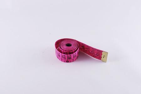 centimeter: pink centimeter scale Stock Photo