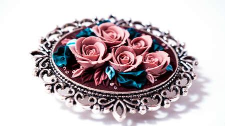 brooch: brooch roses