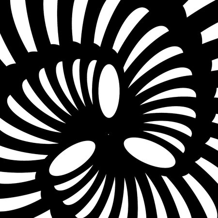 Vector spiral. Spiral. The concentric circles. The silhouette of the spiral. Effect, hypnosis, the symmetry of the spiral.