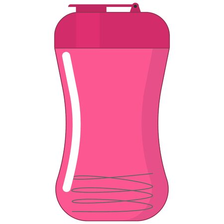 vector image of flat shaker icon for sports nutrition with mixing spring isolated