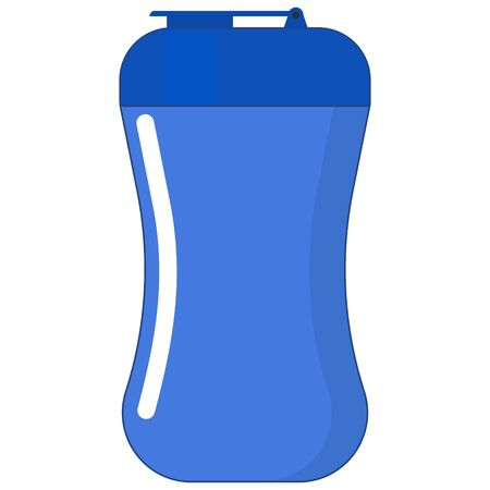 vector image of flat shaker icon for sports nutrition isolated