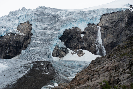Blue ice glacier front. Buer glacier, Norway.