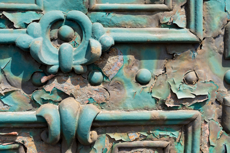 Old door rust metall on the streets of Budapest Hungary Stock Photo