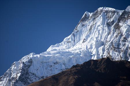 Annapurna IV 7,525 m mountain in the Himalaya mountains, Annapurna region, Nepal Stock Photo