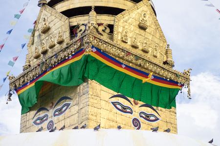 Swayambhunath stupa Eye Buddha Kathmandu