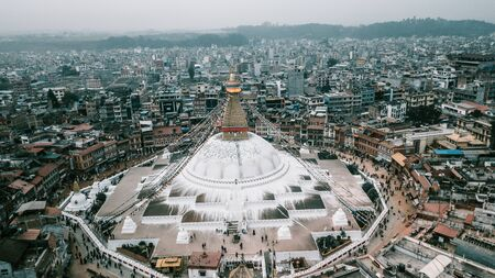 Stupa Bodhnath Kathmandu, Nepal - October 12, 2018 Sajtókép