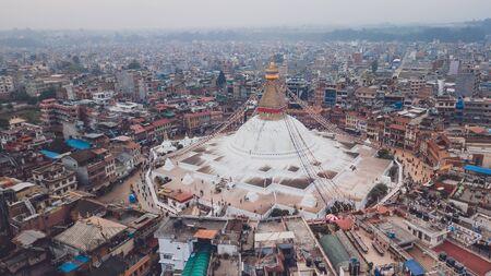 Stupa Bodhnath Kathmandu, Nepal - October 12, 2018 Редакционное