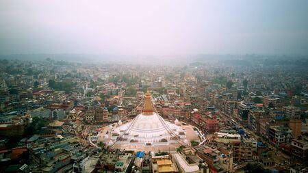 Stupa temple buddhist Bodhnath Kathmandu, Nepal October 12, 2018