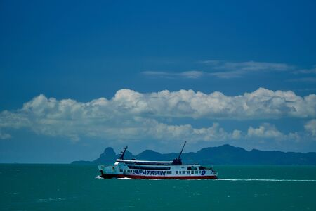 Boat at the blue sea in Thailand
