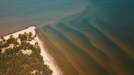 Aerial view of cape Kolka, Baltic sea, Latvia Stock fotó - 129688223